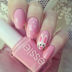 If you're a beginner and not familiar with nail art, you'll definitely love these easy and pretty Easter nails art designs. From sparkles to matte finishes, nails 45 Pretty Easter Nails Art Designs Worth Trying Nail Art Designs, Easter Nail Designs, Easter Nail Art, Nail Designs Spring, Nails Design, Easter Decor, Easter Ideas, Easter Crafts, Cute Nail Art
