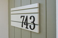 Display your house numbers in a creative way