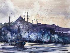 Istanbul. Watercolor. 40x30cm. : Art