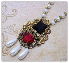 Medieval Necklace - Medieval Jewelry - Renaissance Jewelry, Historical Replica, Tudor Necklace, Elizabethan via Etsy