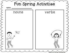 Fun Spring Activities printable included in Spring Writing for Firsties by First Grade Schoolhouse. $ Filled with FUN writing activities to use throughout the spring season.