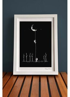 Flying Mouse 365 Selected Print - Reach For The Moon