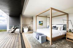 Contemporary Seaside Master Bedroom