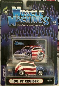 (TAS030233) - 2002 Muscle Machines Die Cast '00 PT Cruiser 1:64 Scale