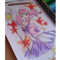 Paper drawing | Game: League of Legends [Lux] Lux Skins, Drawing Games, Paper Drawing, Manga Games, Death Note, Tokyo Ghoul, League Of Legends, My Arts, Princess Zelda