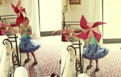 This giant pinwheel is such a fun alternative to flowers for your little helpers!