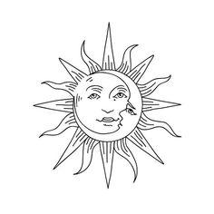 hippie tattoo 204069426852612292 - Sol Y Luna Source by annarizona Mini Tattoos, Body Art Tattoos, Tattoo Drawings, Small Tattoos, Art Drawings, Tatoos, Tattoo Sonne, Sun Drawing, Filipino Tattoos