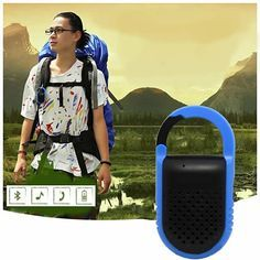 Clip N Go Bluetooth Speaker and Handsfree Speakerphone. It is a mini lightweight speaker that can hang on to your stuff. It is ready to play the melodious tunes on an instant with Bluetooth 4.0 version giving you a crystal clear loud sound with base.