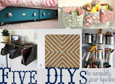 DIY organizing roundup...under the bed storage
