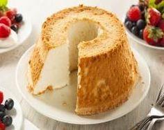 Gâteau des anges ou Angel food cake 100 farine, 50 maizena, 5 oeufs (blcs neige et jaunes), 130 sucre, levure, 1 zeste citron, sel