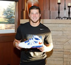Tim Tebow and Nike shoe
