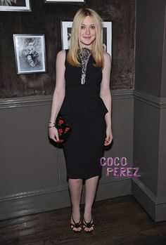 Dakota Fanning  - in Elie Saab LBD & Prada Shoes