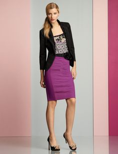 Very Berry Pencil Skirt ... constructed to wow!  Black House White Market