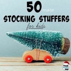 This is the best list of 50 stocking stuffers for kids that we've found! Fun, creative ideas for Santa and parents to get excited about this Christmas! Stocking Stuffers For Kids, Christmas Stocking Stuffers, Christmas Stockings, Stocking Fillers For Kids, Christmas Presents, Holiday Crafts, Holiday Fun, Holiday Ideas, Festive