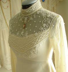 Pristine Beaded Champagne Wedding/Bridal High by TheTealDoor, $310.00