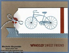 10/14/2013 All Occasions Stamp Camp Follow Up Michele Reynolds Cycle celebration bike tag friend watermark