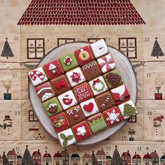 Best Christmas Sugar Cookie Recipe, Christmas Cookies Gift, Fall Cookies, Christmas Treats, Cupcakes, Cupcake Cookies, Gingerbread House Parties, Square Cookies, Christmas Squares