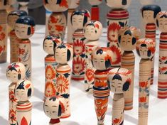 japanese kokeishi dolls are wooden sculptures of the human figure in its most basic,
