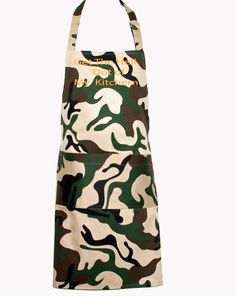 Camouflage Camo Apron Men, Get The Hell Out of Kitchen, Custom Apron For Husband, Dad, Wife, Military Boyfriend, Ships TODAY AGFT 1037 Uncle Birthday Gifts, Uncle Gifts, Personalized Birthday Gifts, Funny Birthday, Selling Handmade Items, Handmade Clothes, Handmade Shop, Etsy Handmade, Funny Aprons