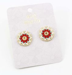 TOPOS ROJOS - Comprar en accesorios Ave Maria Rings, Hail Mary, Red, Stud Earrings, Accessories, Ring, Jewelry Rings