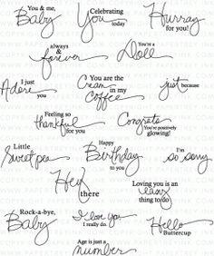 Signature Greetings II Stamp Set #papertreyinkwishlist, #papertryinksignaturegreetingII, #signaturegreetings2stampset