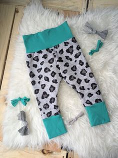 RTS baby leggings cheetah baby leggings french by marysayssew Baby Girl Leggings, Cheetah, Sweatpants, Joy, French, Trending Outfits, Handmade Gifts, Fashion, Kid Craft Gifts
