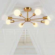 #sputnik #chandelier #semiflushlight #ceilinglight #midcenturylighting