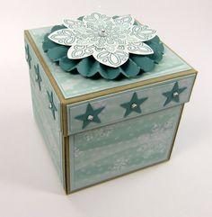 Stempelitis, Explosionsbox, Flockenzauber, Box, Geschenk, Weihnachten, Stampin up