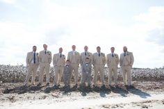 Fall Wedding; Khaki Suits; Mens Warehouse; Navy Ties; Southern Wedding, Oak Level Farm