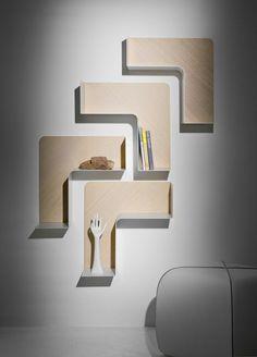 Designer Regale B Line Fishbone Line Wandregale