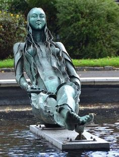 """The statue of Anna Livia is much better known as """"The Floozie in the Jacuzzi"""". Description from welovedonegal.com. I searched for this on bing.com/images"""