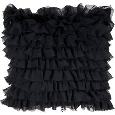 Ruffles Pillow of the bedroom