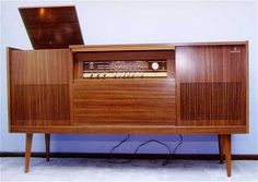 Grundig KS Series console radio. Manufactured in the 1960's, this series of Grundig radios combined sleek elegance with unparalleled sound quality.