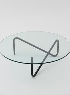 Unique Tricom #table by Shigeichiro Takeuchi with a single piece of steel pipe http://po.st/rew905