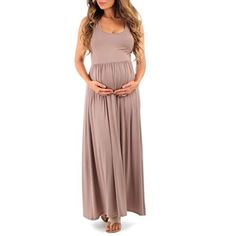 6600aac63d Love this Mocha Ruched Maternity Maxi Dress by California Trading Group on
