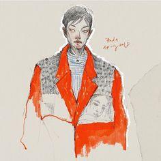 515 отметок «Нравится», 4 комментариев — Draw A Dot. (@drawadot) в Instagram: «@prada S/S 2018 illustration by @mylifeafterwork. I am always a fan of her sketch! - @mistermkan» Art Inspo, Illustration, Dots, Instagram Posts, Fashion, Moda, Illustrations, Fasion, Stitches