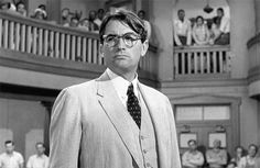 """Gregory Peck as Atticus Finch in """"To Kill a Mockingbird"""" Atticus Finch, Gregory Peck, Harper Lee, Ya Novels, To Kill A Mockingbird, American Literature, Golden Age Of Hollywood, Vintage Hollywood, Good Movies"""