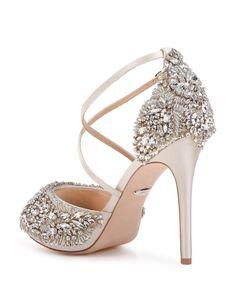 25bd8cb19 Badgley Mischka Women s Hyper Embellished Satin Platform High-Heel Sandals  Shoes - Bloomingdale s