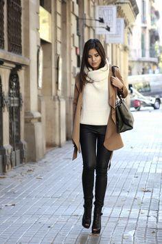 Adriana Gast?lum: How to Make Statement Looks with Leather glamradar.com