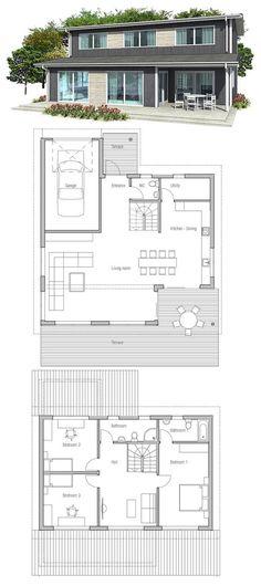 Small House Design, Modern Architecture.