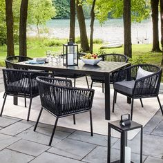 Threshold™ Standish 7pc Strap Dining Set $680 70inch table