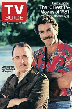 TV Guide Magazine: The Cover Archive 1953 - today! Tom Selleck, Magnum Pi, Jiminy Cricket, Great Tv Shows, Old Tv Shows, Classic Tv, Classic Movies, John Hillerman, Nostalgia