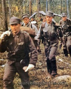 Finnish soldiers - World War 2 Color Photo