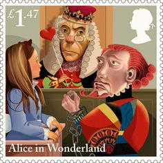 Royal Mail honours Alice in Wonderland with special stamps.