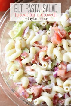 BLT Pasta Salad -- part of The Best Picnic and Potluck Recipes