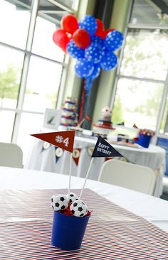 soccer sports party - tablescape
