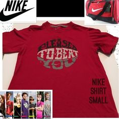 "PLEASE TO BEAT YOU Nike SmALL Boy/Girl Tee Shirt Do you have a competitive little one in your life? Well then this T {says} what they are thinking! Light cotton and great for those hot summer days....playing...practicing... backyard sports games:) armpit to armpit: approx 14.75"" armpit to bottom: approx 13"" base of collar to bottom of back: approx 19.25"". This is for a boy or girl. You decide. Either way it's very cute and in great used shape! Tags: pro shorts shoes shirt T-Shirt statement…"