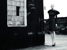 Campaign: Jil Sander Season: Fall 2008 Photographer: Willy Vanderperre Model(s): Natasha Poly, Lara Stone