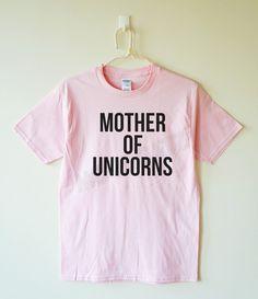 Madre de unicornios camiseta unicornios camisa por MoodCatz en Etsy