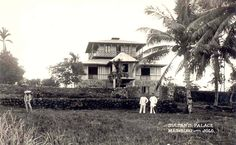 A view of the Sultan of Sulu's Palace at Maimbung, Island of Jolo. The building was constructed using local hard wood